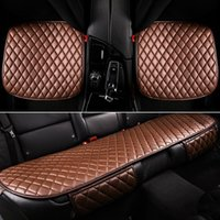 Wholesale Luxury Seat Covers For Cars - 2016 Newest Full Set Luxury Leather Car Cushions Seat Covers Three-pieces Packaged Non-slip and Wear-resistant Available For All Cars