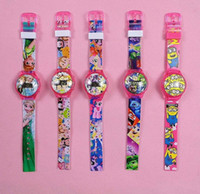 Wholesale 2016 Hot cartoon watches tsum pony frozen Minion Inside out children fashion children watch LED flashing