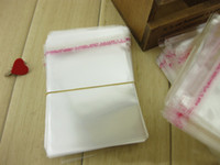 Wholesale 16 cm transparent self adhesive OPP bag reopenable self press sealed sticky jewelry packing pouch