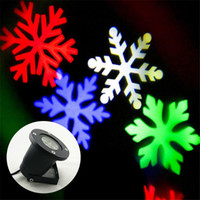Wholesale NEW Snowflakes LED Stage Light Holiday Halloween Christmas use White Snow Sparkling Landscape Projector Lawn Garden Wall OutdoorDecoration