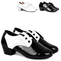 Wholesale Boys Ballroom Tango Latin Dance Shoes Kids Salsa Waltz Ballroom Dance Shoes Faux Leather Children Dancing Shoes VY0090 salebags