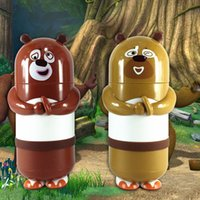 Wholesale 280ML Cartoon Bear infested Mug glass water bottle child cup coffee chocolate cup shipping YFQ