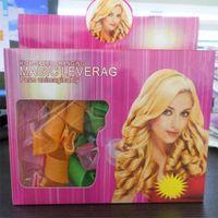 Wholesale DIY Magic Leverag Hair Curler Rollers Plastic Pear Head Styling Big Waves Accessory Tools Kits Magic Hair Curl