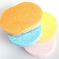 Wholesale 5pcs Makeup sponge Women beauty face care Cosmetic Puff natural soft seaweed cleansing wash flutter sponge puff