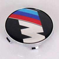 Wholesale 68mm M M Car Wheel Center Caps Badge Chromed Hub Cap Cover Emblem High Quality