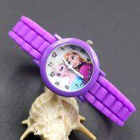 anna beautiful - Cartoon Beautiful girl ELSA and ANNA style dial children students girl s Silicone quartz wrist watch