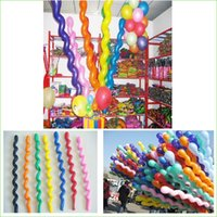 Wholesale 100Pcs Pack New Fashion Giant Rubber Helium Spiral Latex Balloons Wedding Birthday Party Decoration Ballons
