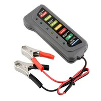 Wholesale 12V T16897 Led Digital Battery Tester Automobile Battery Car Portable Battery Detecting Instrument mm Gray Color