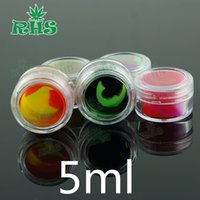 acrylic spice jar - 5ml ml ml ml clear acrylic wax concentrate containers Non stick Dab BHO Hash Oil Dry Herb Storage Jars