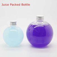 Wholesale Plastic Transparent Spherical Bottle Juice enzyme tea drink beverage bottles ml ml ml ml most tide