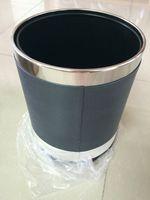 Wholesale Double Layer Rubbish Bin Guest Room Folder garbage PU Buckets
