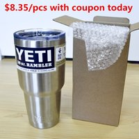 beer quality - 2016 High Quality Yeti Vacuum Cup Oz Stainless Steel Beer Mug Big Capacity Ramble Tumble Vehicle Insulation Coffee Cup Dhl