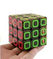 Wholesale Mofangge Dimension Speed Cube x3 Stickerless Smooth Magic Cube Puzzles Transparent Black mm mm