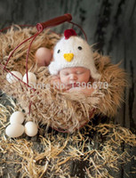 baby chicken costumes - Newborn Baby Boys Girls Hats Chicken Crochet Knit Costume Photo Photography Prop Clothes cap baby style cap