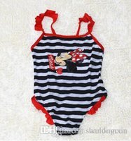 One-piece Girl summer days 2016 summer new Baby Swimwear Lovely Minnie Mouse Baby Kids Girls cartoon Swimsuit one pieces Free shipping