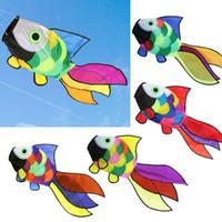 bamboo garden decor - Rainbow Swimming Fish Shape Kite Windsock Wind Spinner Kids Toys Outdoor Camping Events Garden Decor Children Brinquedos