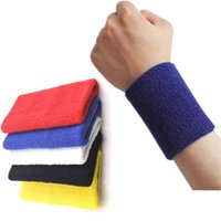 Wholesale Hot selling Inch Sport Wristband Cotton Fitness Gym Sweatbands Yoga Jogging Basketball Tennis Volleyball Badminton Cycling order lt no tra
