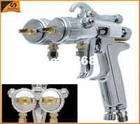 Wholesale SAT1189 nano chrome painting hot on sales double nozzle spray gun