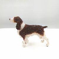 Nueva Husky perro se encuentra propensa Juguetes Cocker Spaniel juguetes de simulación de la muñeca de cumpleaños de mentira squattingpostureGenuine de alta calidad