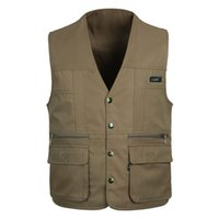 bamboo photography - New Men s Multi pocket Vest Shooting Photography Canvas Vest Waistcoat Photographer
