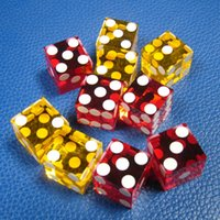 Wholesale High Quality mm Crystal Acrylic Precision Dice Transparent Portable Dice Casino Square Craps Dice