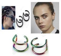 Wholesale effreeing Star fake labret lip piercing kit jewelry ear studs percing levre bijoux de corps ear plugs tragus kylie jenner