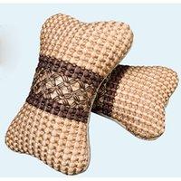 head rest - 2Pcs neck pillow Car Auto Seat cover Head Neck Rest Cushion Headrest car Pillow