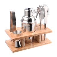 Wholesale Stainless Steel Cocktail Shaker Mixer Drink Bartender Martini Tools Bar Set Kit