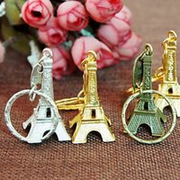 Wholesale couple lovers key ring advertising gift keychain Alloy Retro Eiffel Tower key chain tower French france souvenir paris keyring keyfob cut