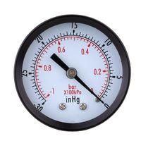 Wholesale High Quality Mini Dial Air Vacuum Pressure Gauge Meter Stable Performance Pressure Gage Great Double Scale Vacuum Manometer