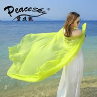 Wholesale Fashion new designer women long silk scarf beach sunscreen women scarves lady chiffon sarves for women colors