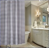 bathroom partitions - 2015 NEW Stripe with thick waterproof mouldproof polyester shower curtain bathroom toilet partition stripe curtain curtain