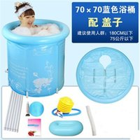 Wholesale Size cm With Pump Water Thickening Folding Tub Adult Bathtub Inflatable Tub Bath Bucket