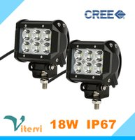 Wholesale High quality CREE LED Work Light W V V LED Car light Truck x4 SUV spot Flood light IP65 waterproof car lighting