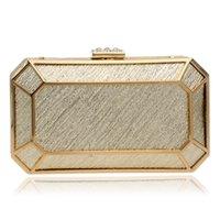 Wholesale NEW Golden Color Vintage Women Bags Diamonds Chain Shoulder Clutches Handbags For Evening Bags Wedding Tote