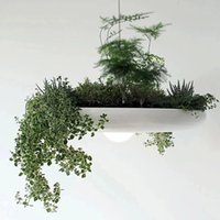 Wholesale LED E27 Hanging Gardens of Babylon Plants Lamp Pots Potted Nordic Tom Creative White Chandelier Lighting Without Plants and Flowers