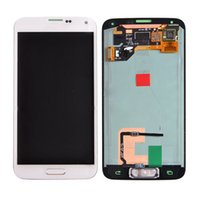 Wholesale Original LCD For Samsung Galaxy S5 i9600 LCD Display Touch Screen Digitizer Assembly White Blue Replacement Original Grade AAA Quality