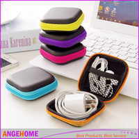 Wholesale SD Hold Case Storage Carrying Hard Bag Box for Earphone Headphone Earbuds memory Card Color