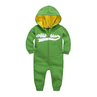 Wholesale Spring Autumnbaby Long Sleeve Microfleece Solid Baby Jumpsuits Cotton Baby Kids Clothing one piece bodysuit