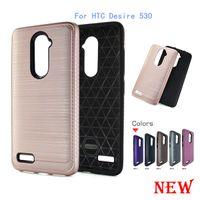 Para HTC Desire 530 Para galaxia de Samsung Grand Prime G530 S7 borde J5 Armadura Híbrido cepillo de fibra de carbono caso TPU PC cepillado cubierta