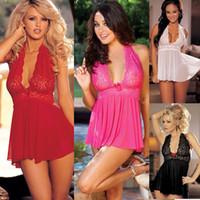 Wholesale Feitong Women Sexy Lingerie Corset With G string Piece Set Dress Underwear Sleepwear Plus Size XXL Dropshipping