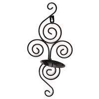 handmade candles - High Quality Handmade Iron Hanging Wall Sconce Candle Holder Handmade Furnishing Articles Wonderful gift