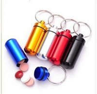 aids pills - Little Bottle Easy Carry Outdoors Gear Gadgets Hiking Camping First Aid Pills Bottles Key Chain Aluminum Alloy