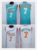 best green coffee - Hot sale Flint Tropics Semi Pro Movie Basketball Jersey Coffee Black Green White Best Stitched Quality