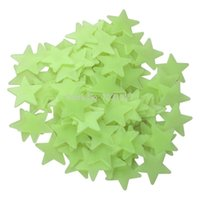 Wholesale New D Stars Glow In The Dark Luminous Fluorescent Plastic Wall Stickers