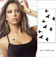 Wholesale Small Black Bird Designs Waterproof Temporary Tattoos Sticker Body Art Accessories Swallow Fake Makeup Tattoo Paper Tips