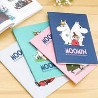 Wholesale A6 B5 Cartoon New Moomin Soft Cover Notebook Exercise Book Diary Notebook Gift Stationery