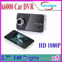 Wholesale 5PCS LCD K6000 Car Camera Car DVR Full HD P Vehicle Camera LED Night Vision Video Recorder Car camera recorder YX DV