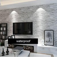Wholesale Modern style D wallpaper stone brick design background wall PVC wallpaper waterproof papel de parede tapete rolls R244