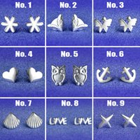 animal shapes factory - Hot Selling Silver Stud Earrings For Women Animal Mixed Shapes Fashion Jewerly Factory Price